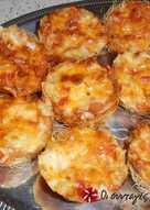 Φωλιές κανταϊφιού με γεύση πίτσας