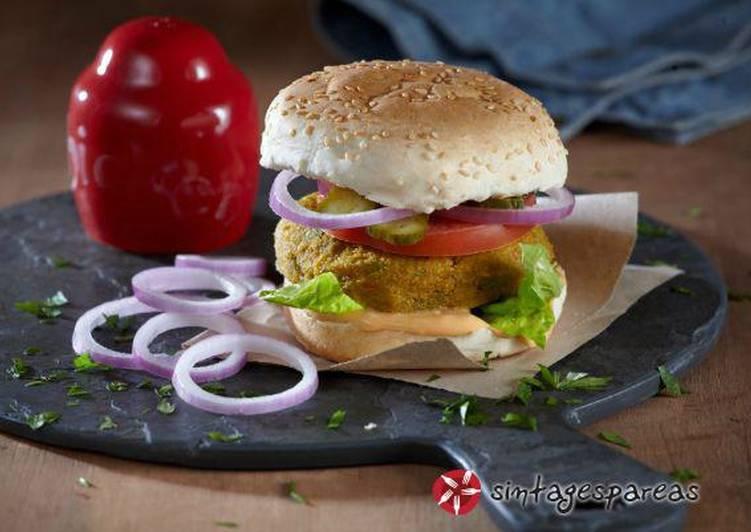 Burger με μπιφτέκι λαχανικών