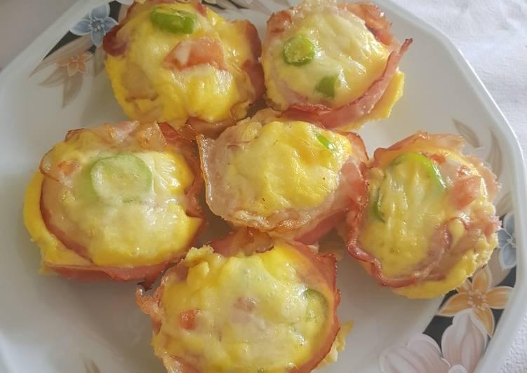 Μάφινς αυγά μπέικον