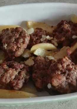 Εύκολα μπιφτέκια με πατάτες στο φούρνο (χωρίς αυγό)