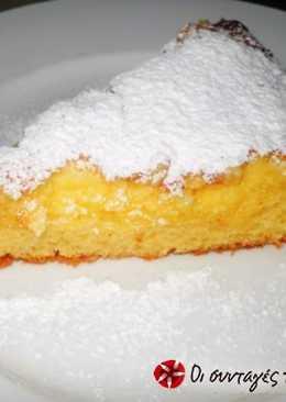 Αφράτο κέικ με άρωμα λεμόνι και τυρί κρέμα