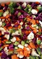 Σαλάτα με ωμά λαχανικά πολύχρωμο