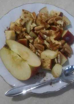 Γρήγορο και υγιεινό επιδόρπιο μήλου