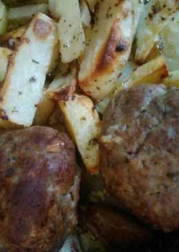 Μπιφτέκια με πατάτες