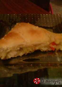 Νηστίσιμη πίτα με πατάτα και πράσο