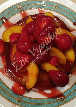 Pancakes με αλεύρι ολικής και φρούτα