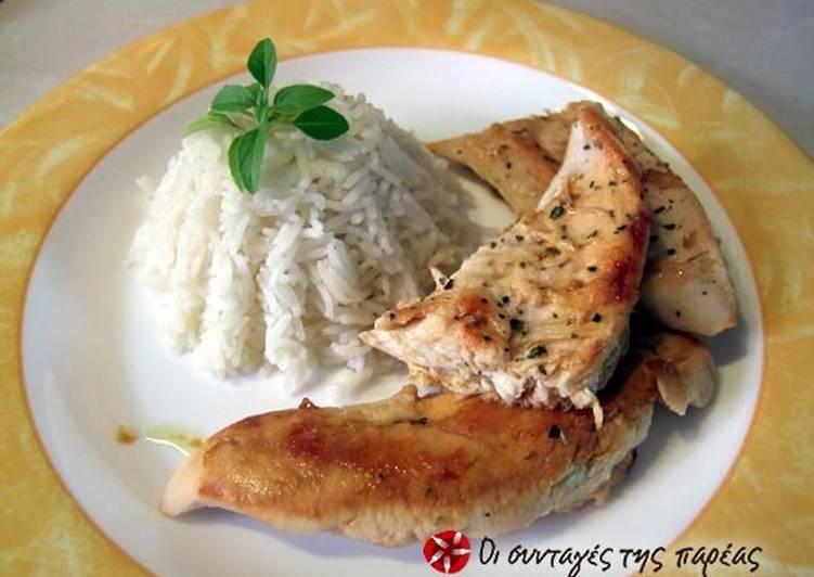 Ελαφρύ κοτόπουλο με ρύζι
