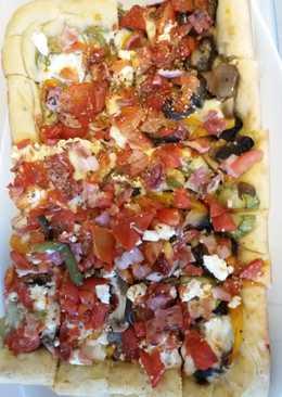 Ανοιχτή πίτα με λαχανικά