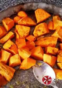 Γλυκοπατάτες με καρότα στο φούρνο