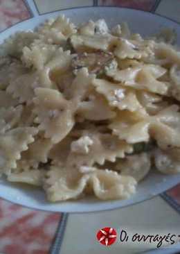 Ζυμαρικά με κολοκυθάκια και κατσικίσιο τυρί