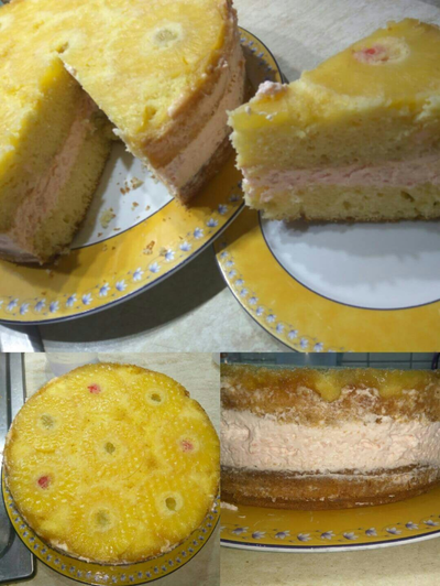 Ανάποδο cheesecake ανανά!!