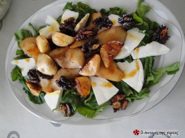 Ρόκα με καραμελωμένα αχλάδια