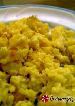 Αυγά τσακλατιστά με τυρί φέτα