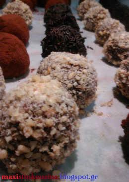 Τρούφες Κάστανου Με Σοκολάτα