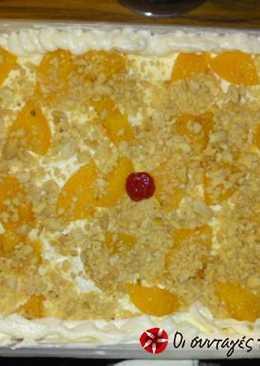 Δροσερό γλυκό με κομπόστα και φιστίκια αράπικα