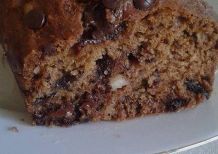 Κέικ με μπανάνα, κεράσι, cranberries και σοκολάτα