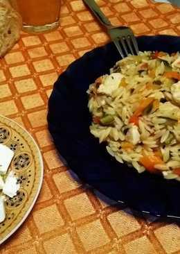 Κριθαράκι σπυρωτό με κοτόπουλο και λαχανικά!