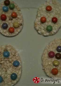 Ρυζοκροκέτες σε σχήμα αβγού