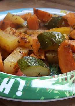 Πατάτες και λοιπά ψητά λαχανικά που χωράνε σε μικρά χεράκια