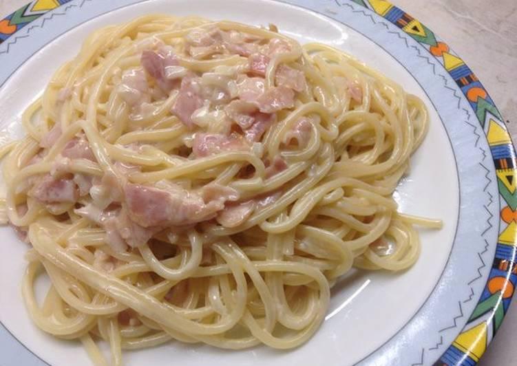 Spaghetti ala crem σε 15 λεπτά