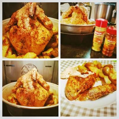 Κοτόπουλο όρθιο !! Στη φόρμα του κέικ !! #κυριακάτικο