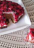 Κέικ με φράουλες και ζελέ