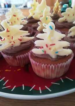 Χριστουγεννιάτικα cupcakes με βουτυρόκρεμα