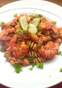 Ζυμαρικά Φουσίλι με γαρίδες