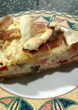 Τάρτα με τυρί ρικόττα, μανιτάρια και καπνιστό κοτόπουλο