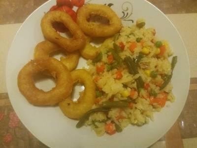 Θράψαλα με ρύζι μπασμάτι και ανάμεικτα λαχανικά #με_σιδήρο
