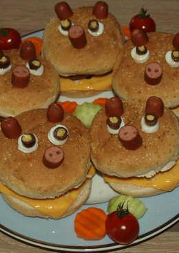 Ηamburger γουρουνάκια