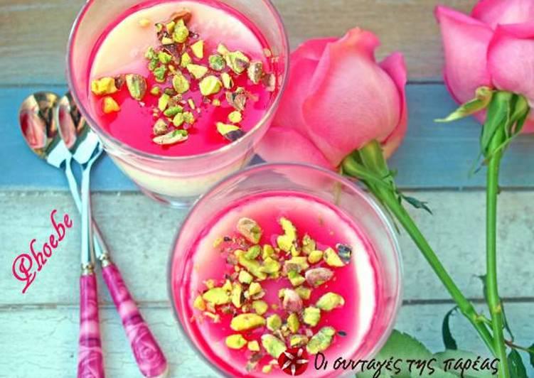 Λιβανέζικο μαχαλεπί με σιρόπι τριαντάφυλλου