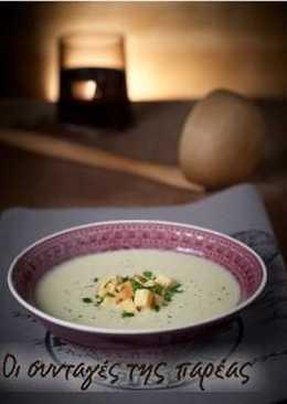 Σούπα βελουτέ από σελινόριζα μαζί με μουστάρδα