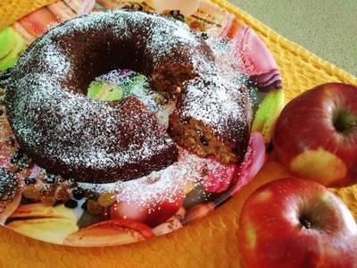 Κέικ με βρώμη, μήλο και ανάμεικτα αποξηραμένα φρούτα!!!