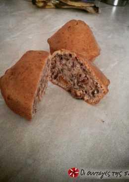 Muffins με κανέλα, σταφίδες και καρύδια