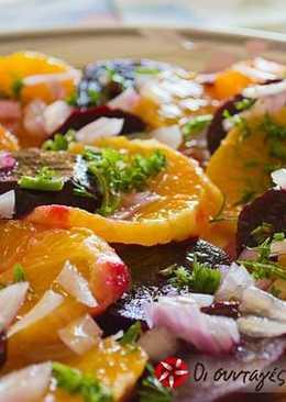 Δροσερή σαλάτα με παντζάρι και πορτοκάλι