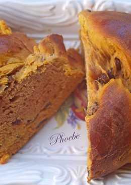 Γλυκό ψωμάκι με κολοκύθα και σταφίδες