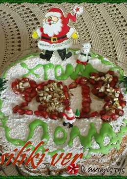 Κέικ-Βασιλόπιτα με φρούτα και ξηρούς καρπούς
