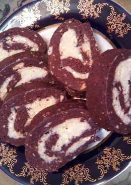 Ρολό μπισκότα με γέμιση κρέμα με ινδοκάρυδο