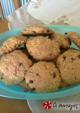 Cookies με κουάκερ ινδοκάρυδο και ξηρούς καρπούς