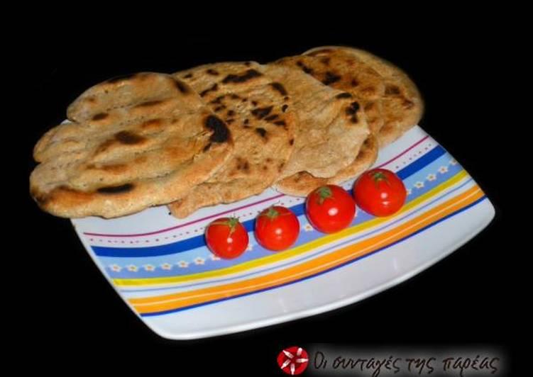 Πίτες ολικής για γύρο-σουβλάκι