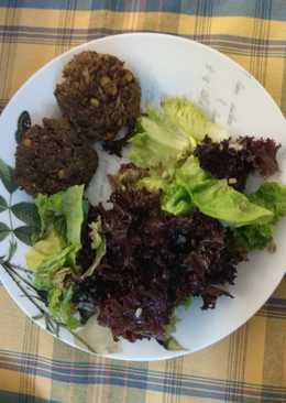 Μπιφτέκια λαχανικών & ρυζιού-vegan