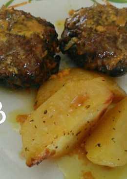 Μπιφτέκια με βρώμη λεμόνι και μουστάρδα