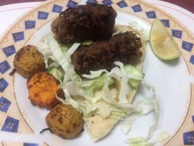Μπιφτέκια kebab style