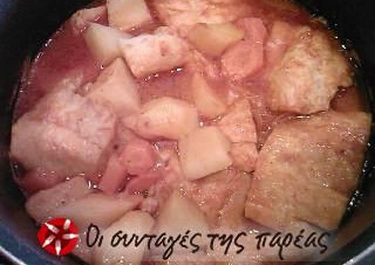 Μπακαλιάρος παστός γιαχνί (πικάντικος)