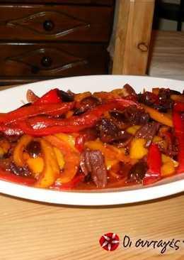 Ισπανική καπονάτα με πολύχρωμες πιπεριές