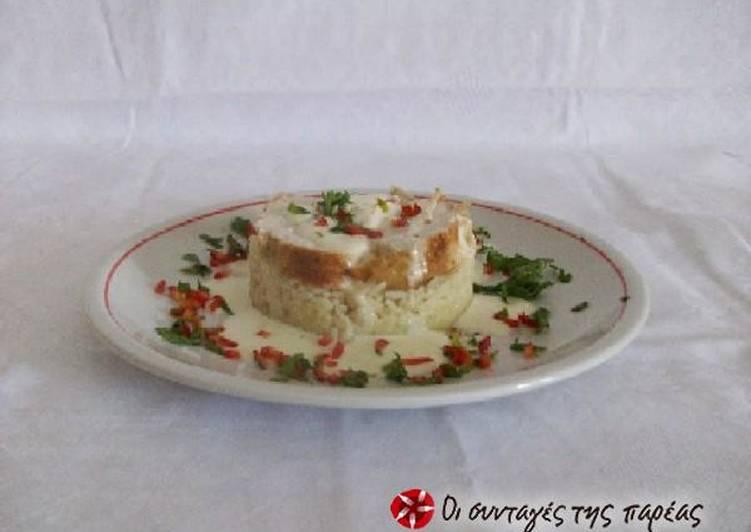 Κοτόπουλο με άσπρη σάλτσα