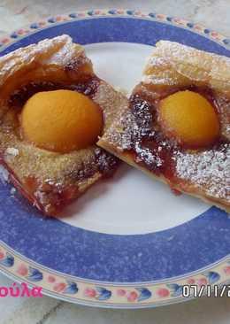 Δανέζικο γλυκό με ροδάκινα