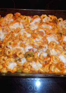 Παστίτσιο με… πυρακτωμένα tortellini και λάβα τυριών