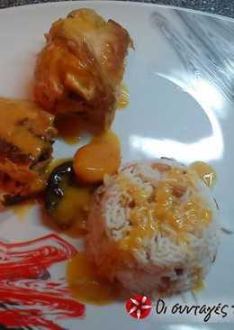 Γιορτινό ψαρονέφρι με βερίκοκα και δαμάσκηνα